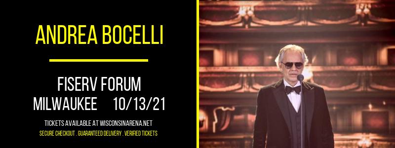 Andrea Bocelli at Fiserv Forum