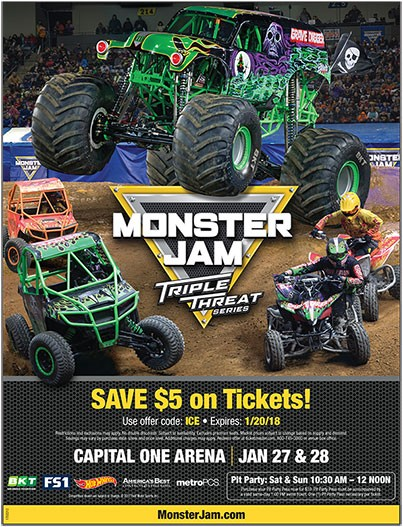 Monster Jam Triple Threat Series at Fiserv Forum