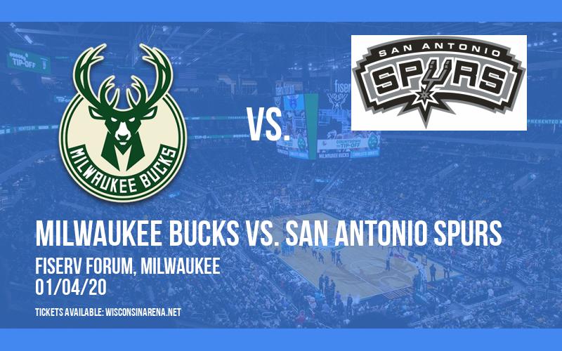 Milwaukee Bucks vs. San Antonio Spurs at Fiserv Forum